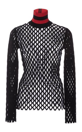 Medium alexander wang black pitch long sleeve split mesh pullover