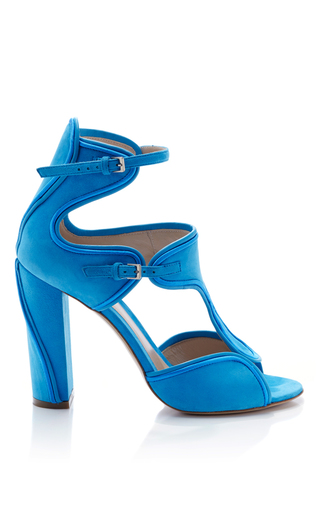 Medium monique lhuillier blue anja suede shoe