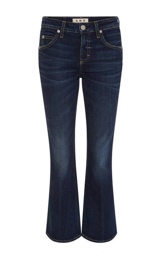 Medium amo  3 dark wash true blue flared jane jeans