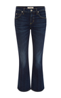 True Blue Flared Mid Rise Jane Jeans by AMO Now Available on Moda Operandi