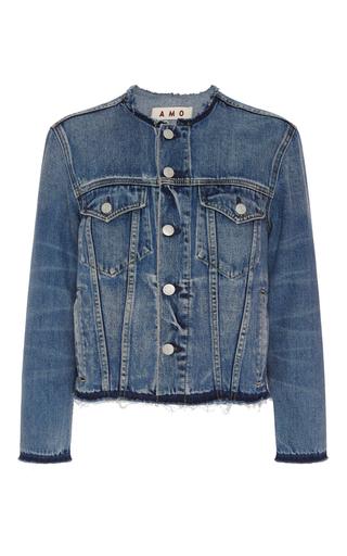 Medium amo  3 medium wash lola collarless jacket