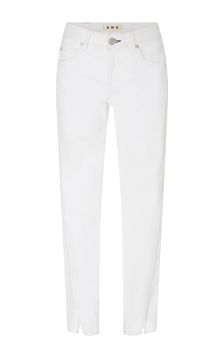 Medium amo  3 white white vintage split ankle skinny jeans