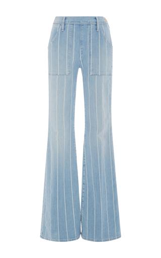 Medium frame denim stripe le flare de francoise striped bell bottom jeans