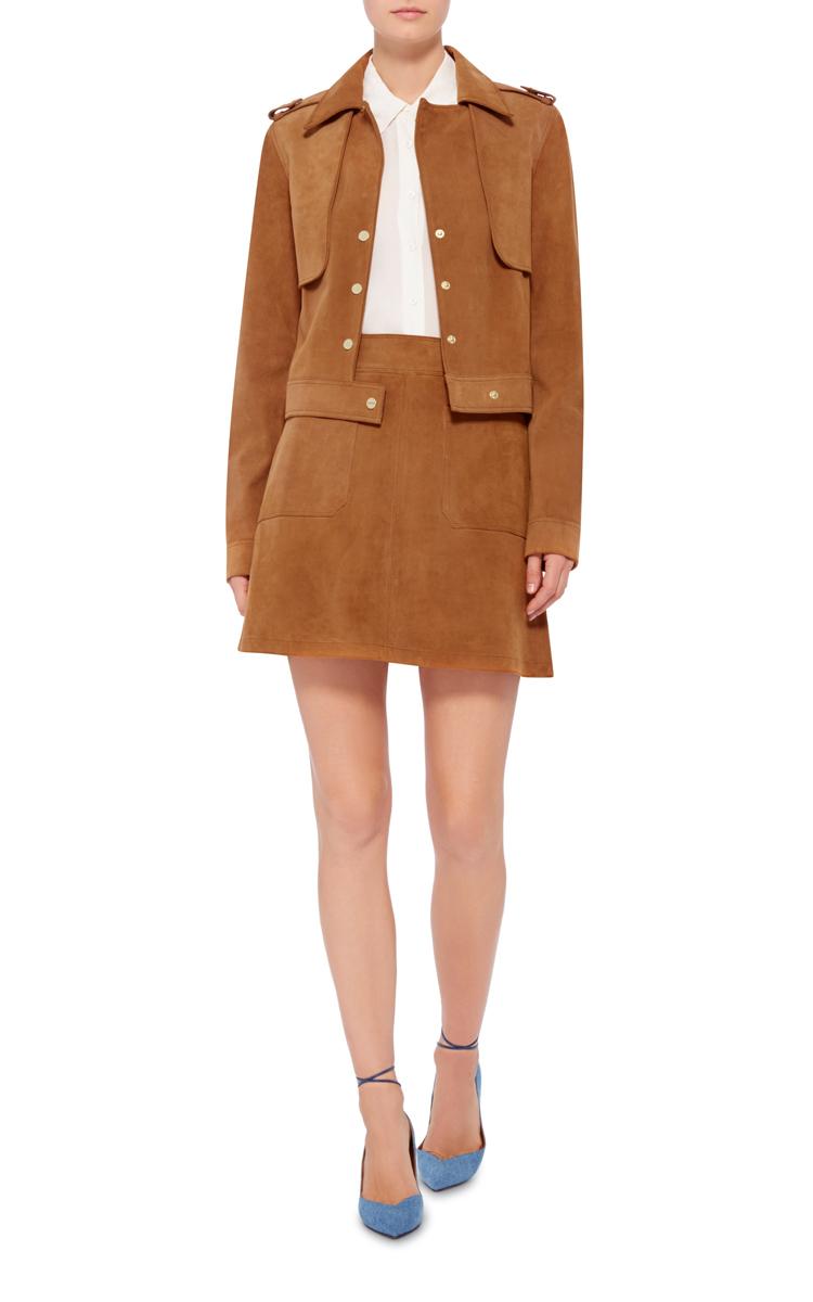 Le High A-Line Mini Suede Skirt by Frame Denim | Moda Operandi