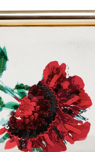 Satin Beaded Embroidered Saya Clutch by OSCAR DE LA RENTA Now Available on Moda Operandi