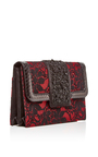 Satin And Lace Embellished Evening Clutch by OSCAR DE LA RENTA Now Available on Moda Operandi