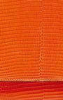 Orange Lizard Leather Crossbody Bag by HUNTING SEASON Now Available on Moda Operandi