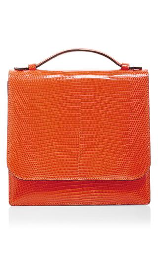 Medium hunting season orange orange lizard leather crossbody bag