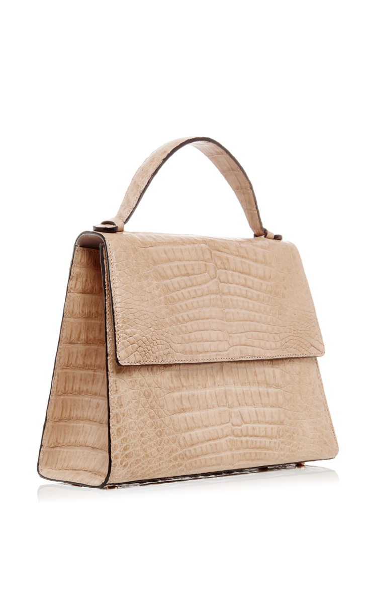 fa05caa8bd3e4 Crocodile Leather Top Handle Bag by Hunting Season