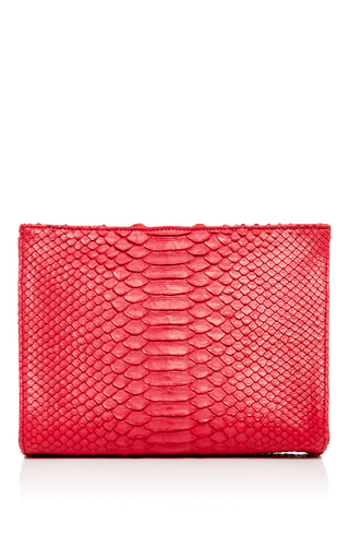 Medium hunting season red red python zip clutch