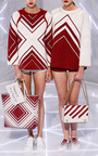 Hem Diamonds Sweatshirt by ANYA HINDMARCH Now Available on Moda Operandi