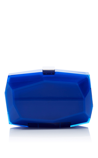 Medium monique lhuillier blue cobalt dasha clutch