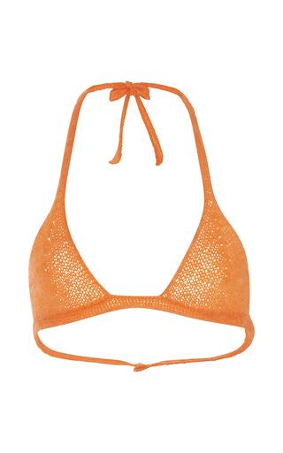 Medium rosie assoulin orange mohair bikini top