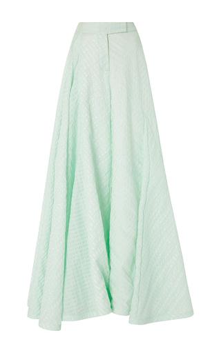 Medium rosie assoulin green silk cotton seersucker miss direction flared pants
