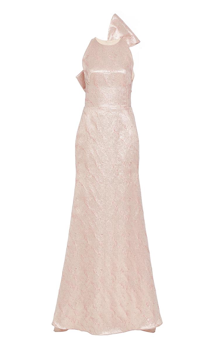 Sparkle Tweed Bow Back Gown by Lela Rose | Moda Operandi