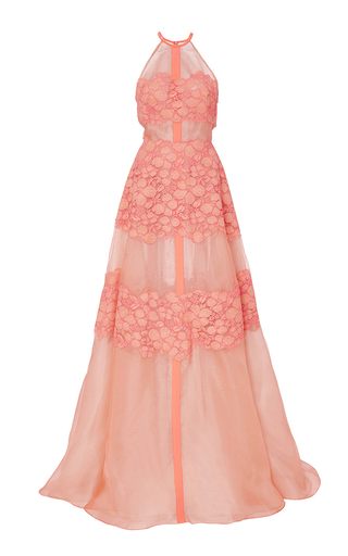 Medium lela rose pink floral lace gown