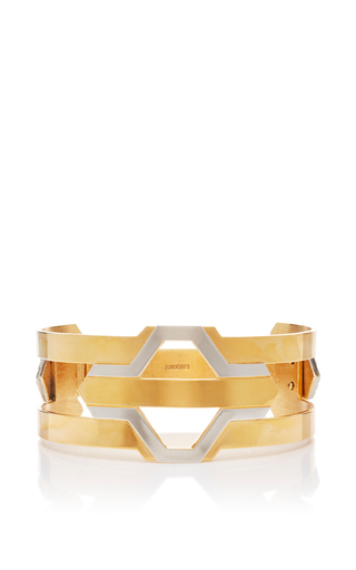 Medium monica sordo gold daphnis 24k gold and rhodium three way choker