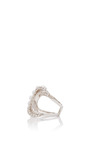 Axis Pearl Double Wave Ring by FALLON Now Available on Moda Operandi