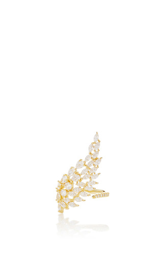 Medium fallon gold monarch cluster wing ring