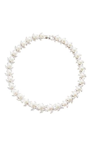 Medium fallon silver monarch pearl choker