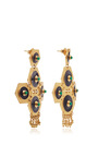 24k Gold Boros Dark Stone Statement Earrings by PAULA MENDOZA Now Available on Moda Operandi