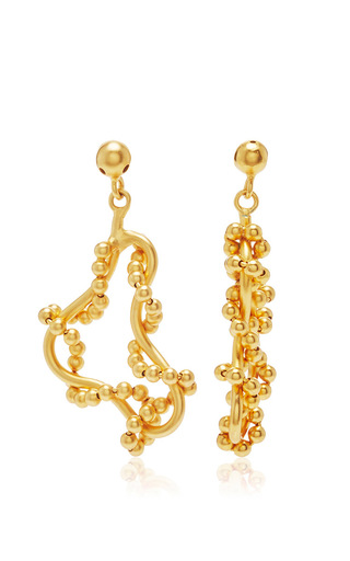 Medium paula mendoza gold 24k gold tangled tree earrings