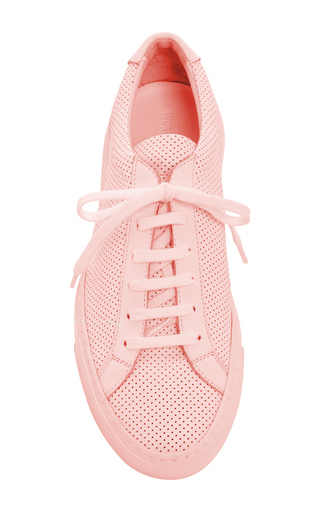 Original Achilles Perforated Sneakers by COMMON PROJECTS Now Available on Moda Operandi