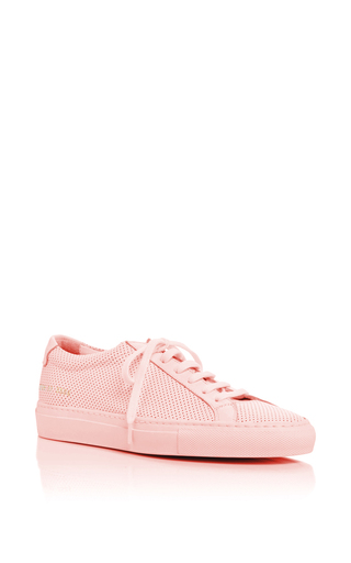 Medium common projects  2 pink original achilles perforated sneakers