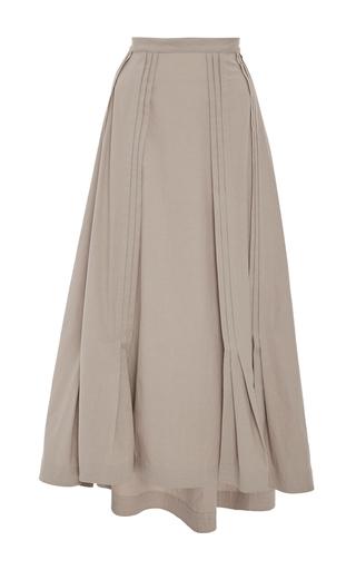 Medium tome tan combed cotton edwardian skirt