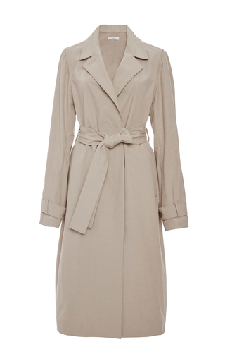Medium tome tan combed cotton classic trench
