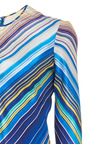 Chevron Silk Gown by NAEEM KHAN Now Available on Moda Operandi