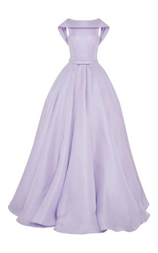 Medium naeem khan purple collared ball gown