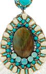 Turquoise Drop Earrings by RANJANA KHAN Now Available on Moda Operandi