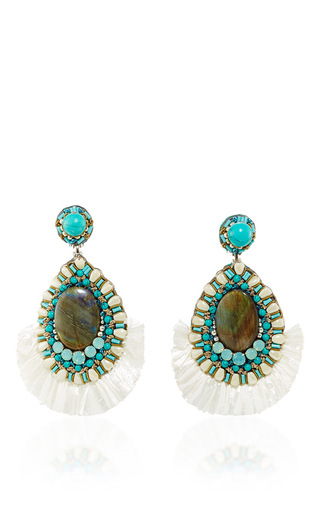 Medium ranjana khan turquoise turquoise drop earrings