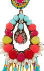 Turquoise Fringe Earrings by RANJANA KHAN Now Available on Moda Operandi