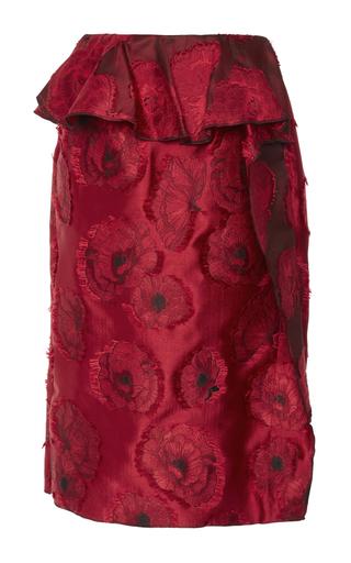 Floral Appliqué Pencil Skirt  by OSCAR DE LA RENTA Now Available on Moda Operandi
