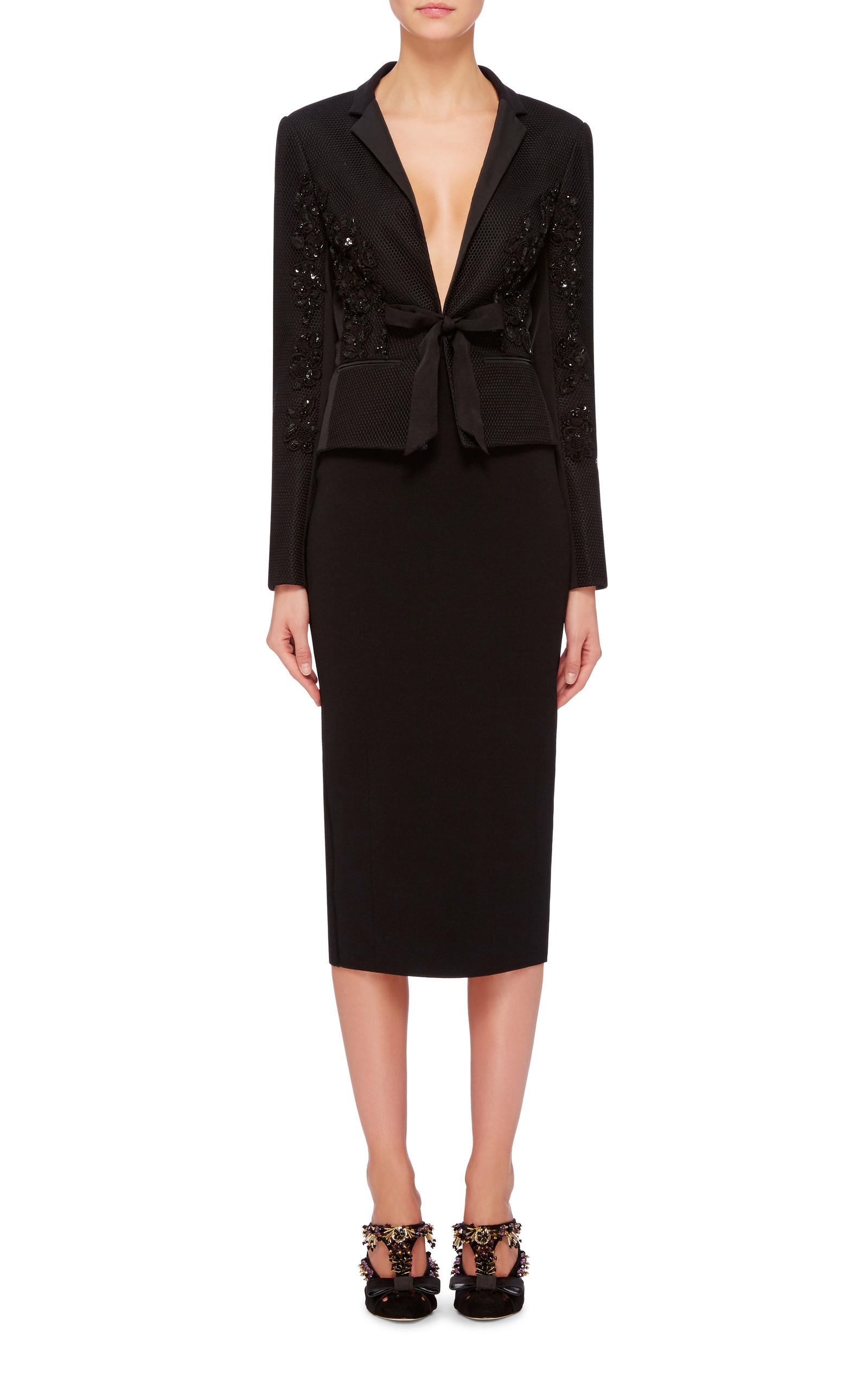 Black Mid Length Pencil Skirt by Oscar de la Renta | Moda Operandi