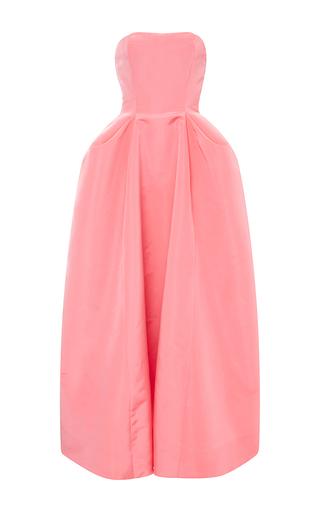 Medium oscar de la renta pink silk pleat detail ball gown