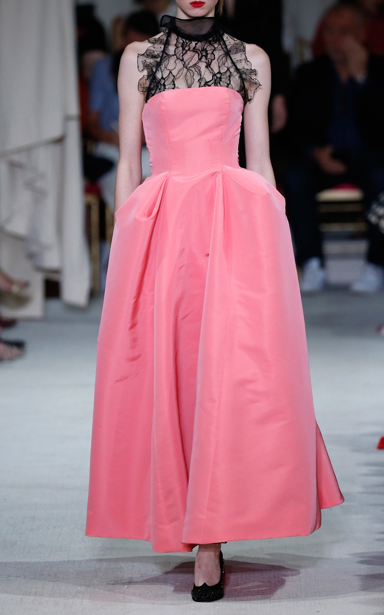 Silk Pleat Detail Ball Gown By Oscar De La Renta Moda Operandi
