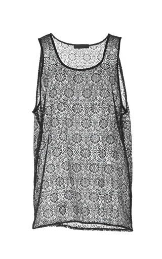 Cotton Lace Tank  by BURBERRY Now Available on Moda Operandi