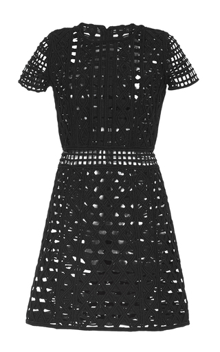 Medium burberry black handwoven metallic taping shift dress