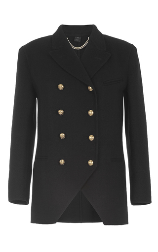 Medium burberry black cashmere regimental jacket