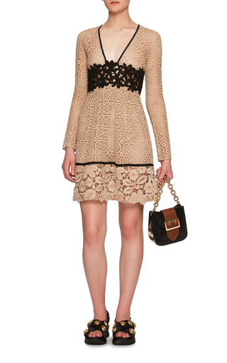 Cotton Lace Dress With Macramé Detailing by BURBERRY Now Available on Moda Operandi