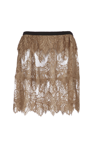 Medium burberry gold chantilly lace scalloped kilt