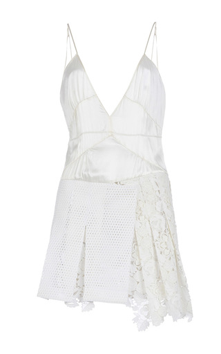 Medium burberry ivory white camisole kilt dress