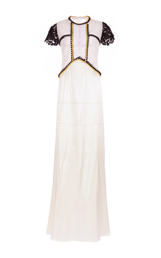 Medium burberry white bi color macrame gown