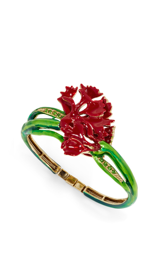 Carnation Cuff Bracelet by OSCAR DE LA RENTA Now Available on Moda Operandi