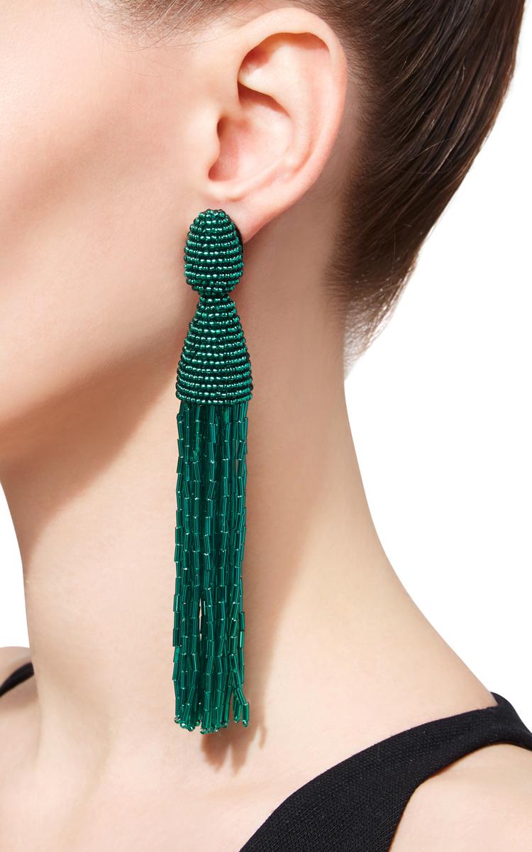 Beaded clip-on earrings Oscar De La Renta 0hprN