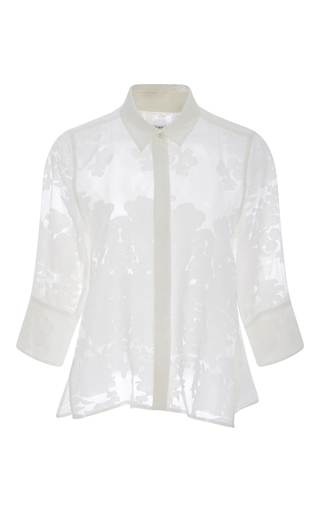 Esme Cotton Silk Sheer Floral Top by EQUIPMENT Now Available on Moda Operandi