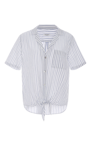 e0434c78740ddb Keira Tie Front Striped Shirt by Equipment